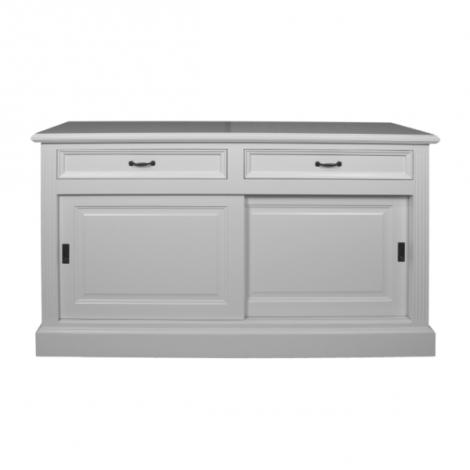 Bahut Provence 150cm à 2 portes & 2 tiroirs - blanc