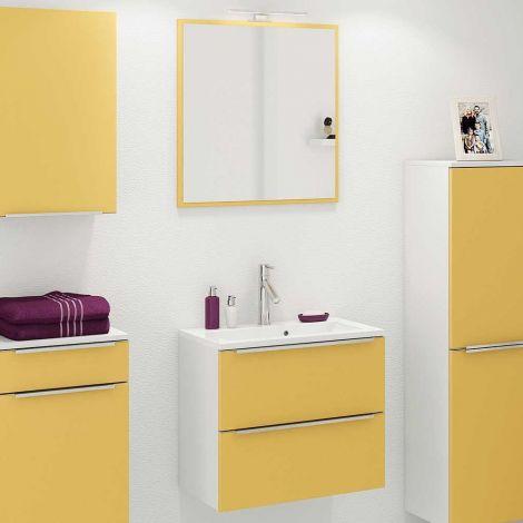 Ensemble salle de bains Hansen 8 - jaune/blanc