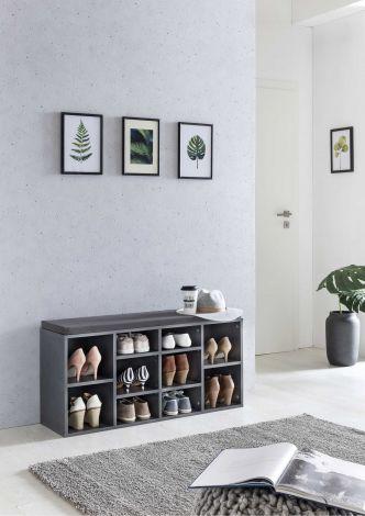 Etagère à chaussures Guillaume - gris graphite