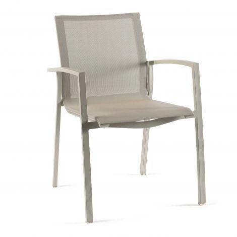 Chaise de jardin Lazaro - ivoire/taupe clair