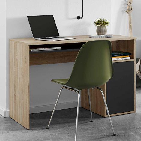 Bureau Martin 115cm - chêne/noir