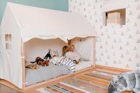 Toile pour cadre de lit Maison 90x200 - blanc