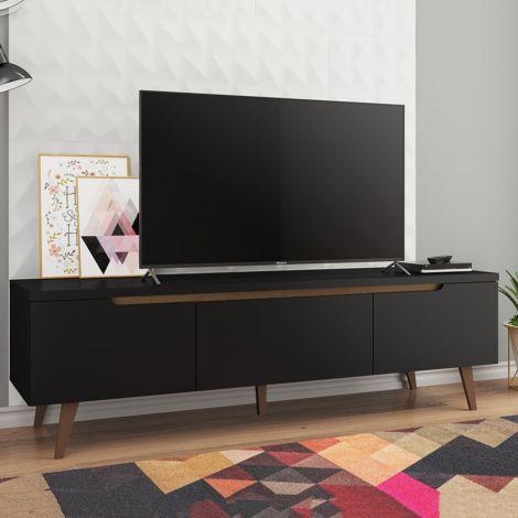 Meuble tv Infas 180cm à 2 portes & 1 tiroir - noir