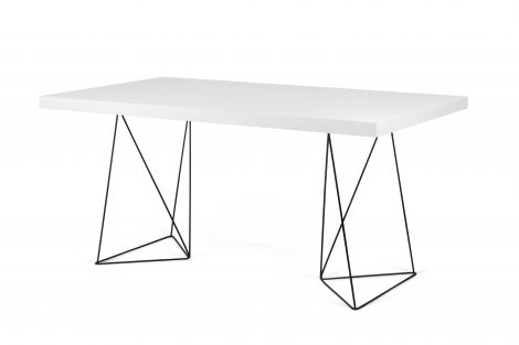 Table Multis - blanc/pieds noirs