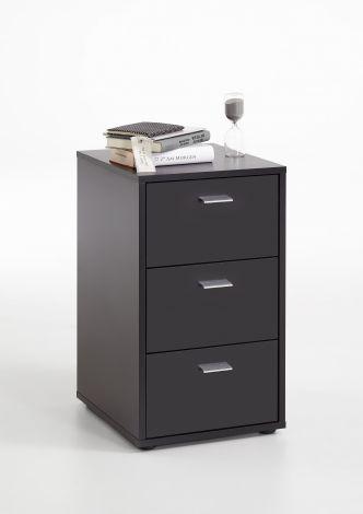 Table de chevet Valerie 3 tiroirs - noir