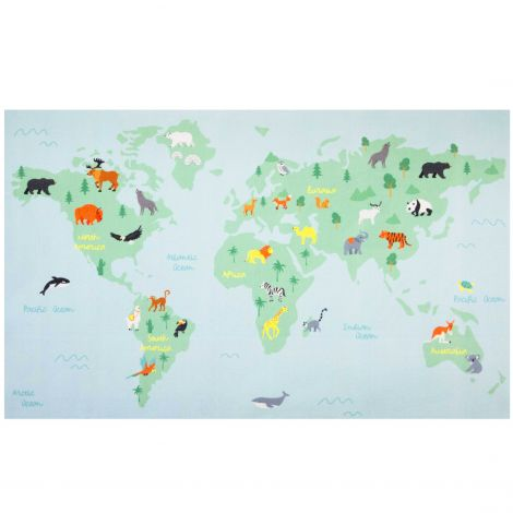 Tapis enfant World Map