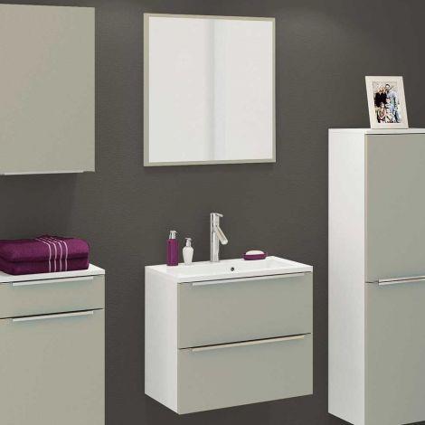 Ensemble salle de bains Hansen 12 - gris/blanc