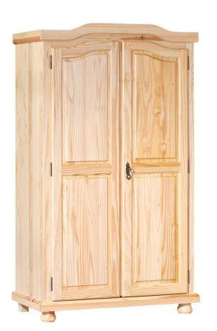 Garde-robe Bastian 104cm avec 2 portes - vernis naturel