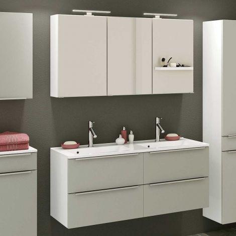 Ensemble salle de bains Hansen 11 120cm - gris/blanc