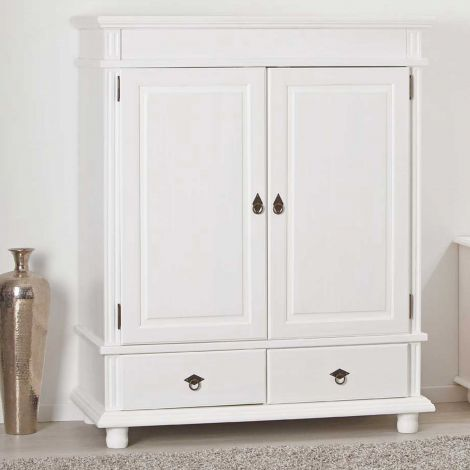 Armoire Danz basse 2 portes - blanc