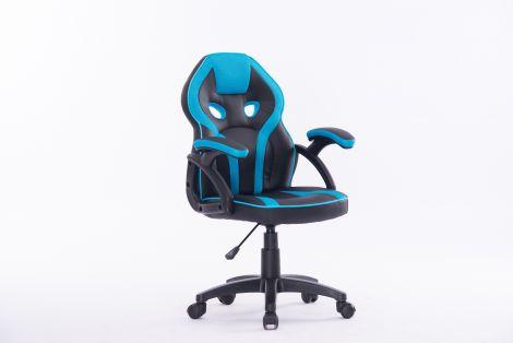 Chaise de bureau Kidz - bleu/noir