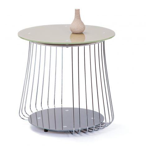 Table d'appoint Riva ø50cm - cappuccino
