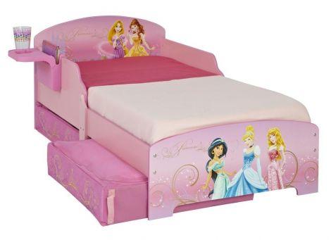 Lit pour tout-petit Princesses Disney avec tiroirs