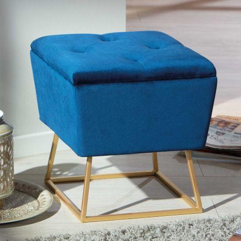 Pouf Surin - bleu