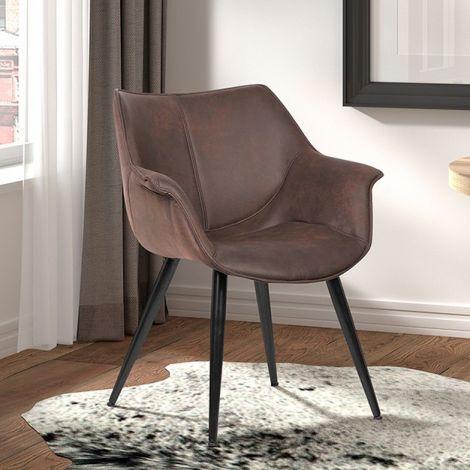 Lot de 2 chaises Milan - brun
