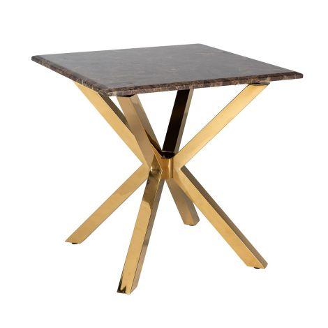 Table d'appoint Kondor 60x60cm - marbre/or