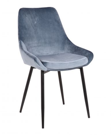 Lot de 2 chaises en velours Mirano - bleu