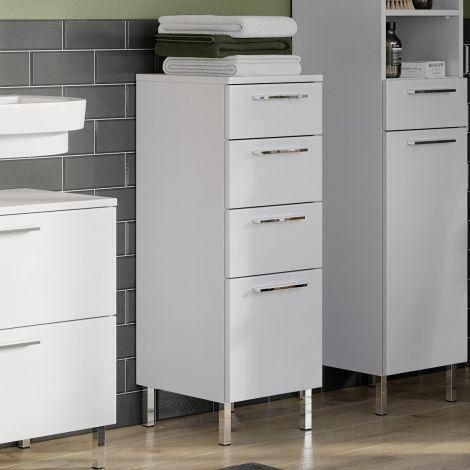 Armoire de salle de bains Artis 4 tiroirs - blanc