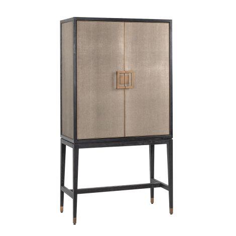 Armoire de bar Orlando 97cm 2 portes - chagrin/or