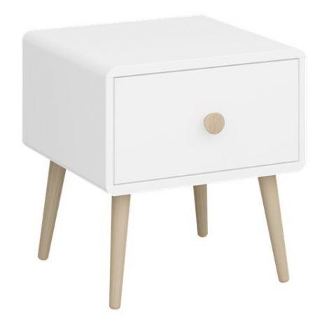 Table de chevet Gustaf 1 tiroir - blanc