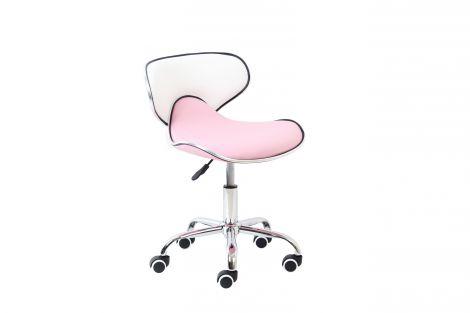 Chaise de bureau Spring - rose/blanc