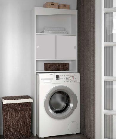 Meuble pour machine à laver Wave - blanc