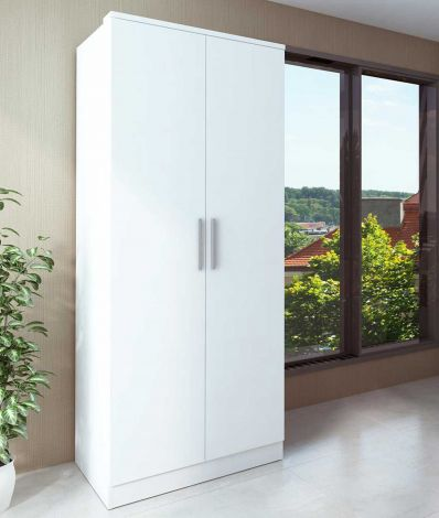 Armoire Ramos 80cm avec 2 portes - blanc
