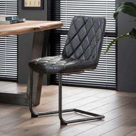 Lot de 2 chaises cantilever Guido - noir