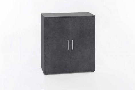 Bahut Denise 2 portes - gris graphite