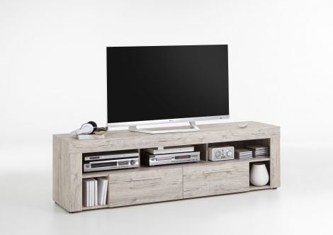 Meuble TV Vidi 180 cm - chêne gris