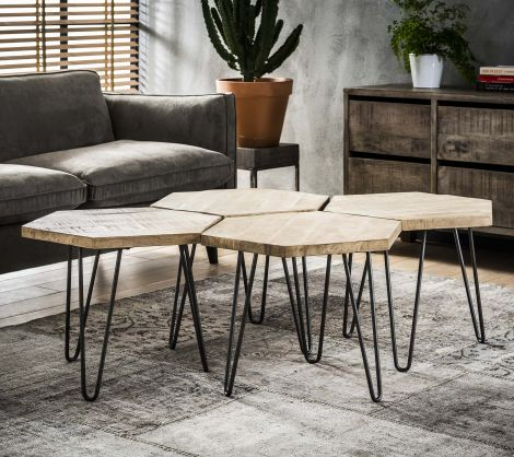 Table basse Nel industriel - mangue clair