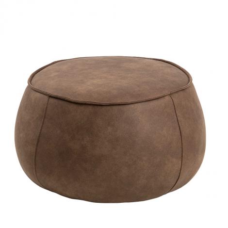 Pouf Mirza Ø60 - brun