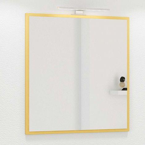 Miroir Hansen 60 cm avec éclairage - jaune