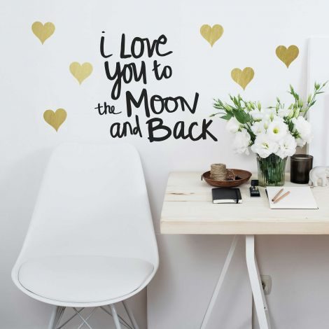 Sticker mural Love You To The Moon