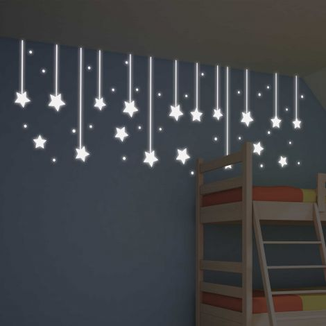 Stickers muraux Hanging Stars phosphorescents