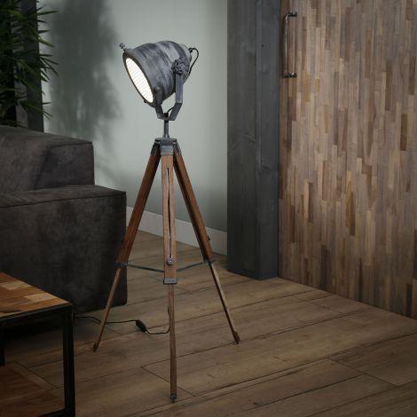 Lampadaire Romi - trépied en bois
