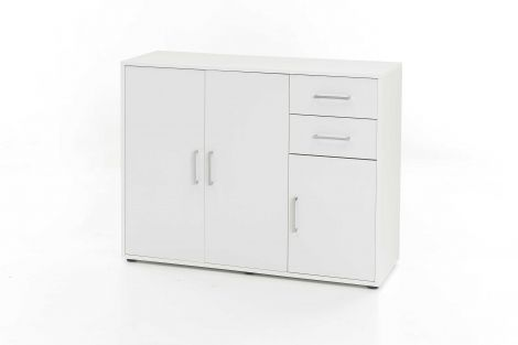 Armoire Maxi-office 3 portes & 2 tiroirs - blanc