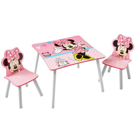 Table et chaises Minnie Mouse