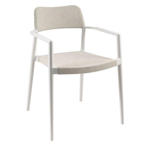 Chaise de jardin Pili - blanc/sable blanc
