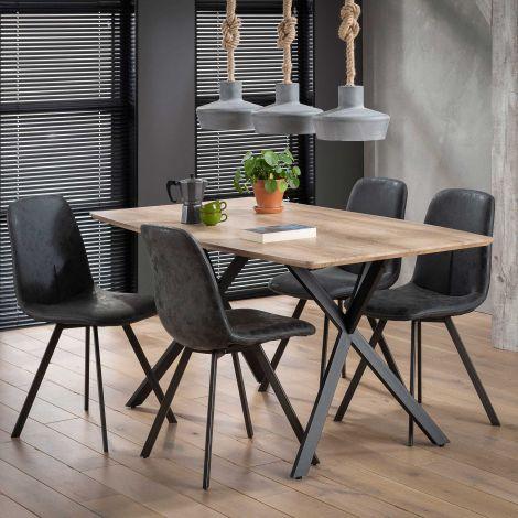 Table à manger Alec 160x90 - chêne