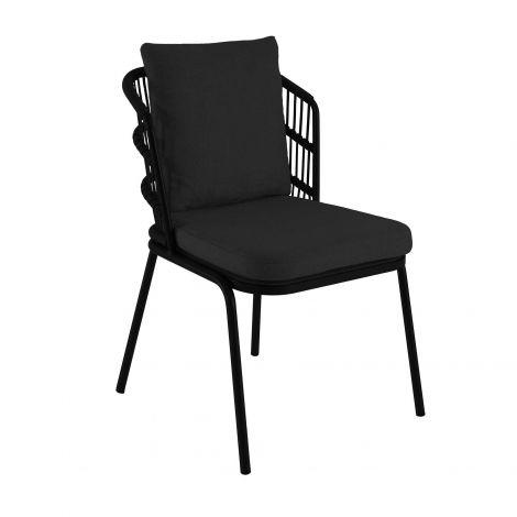 Chaise de jardin Pirlo - noir