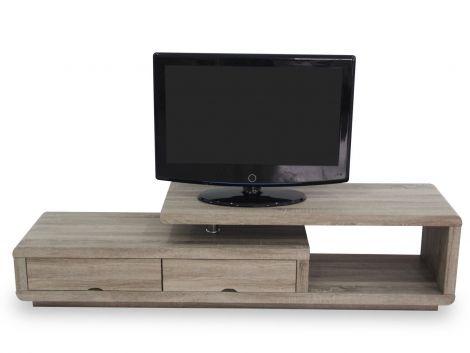 Meuble tv Crystal 180cm - sonoma foncé