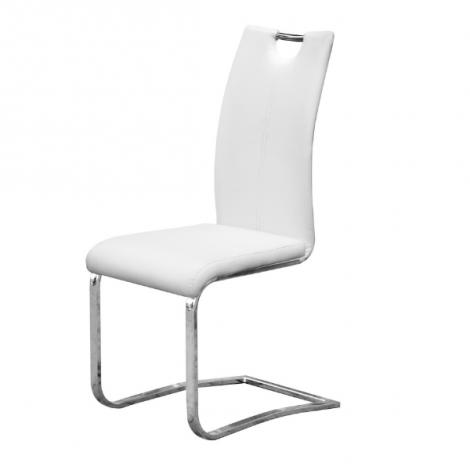 Lot de 2 chaises cantilever Sofia - blanc