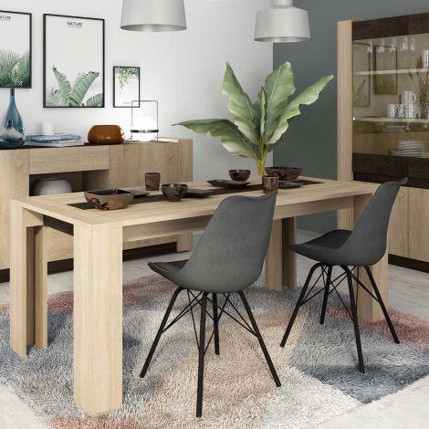 Table à manger Ares 90x190 - brun
