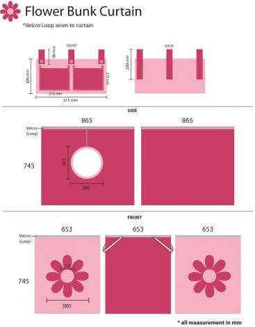 Tente de lit fleurs