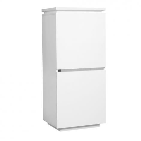 Vaisselier Elif 55cm à 2 portes - blanc brillant