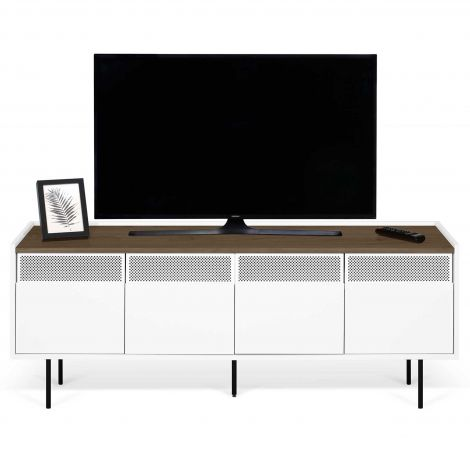 Meuble TV Radio 160cm - noyer/blanc