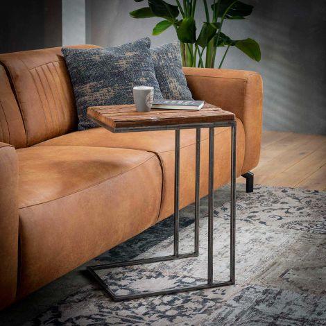 Table d'appoint Anais 35x45 industriel - bois dur