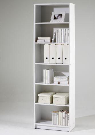 Bibliothèque Brysse 60x202cm - blanc