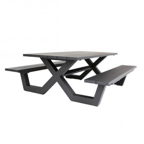 Table de pique-nique Biabou 220x110 - noir